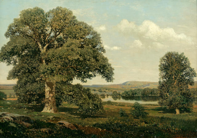 Henry Pember Smith (American, 1854-1907) Old oaks in September