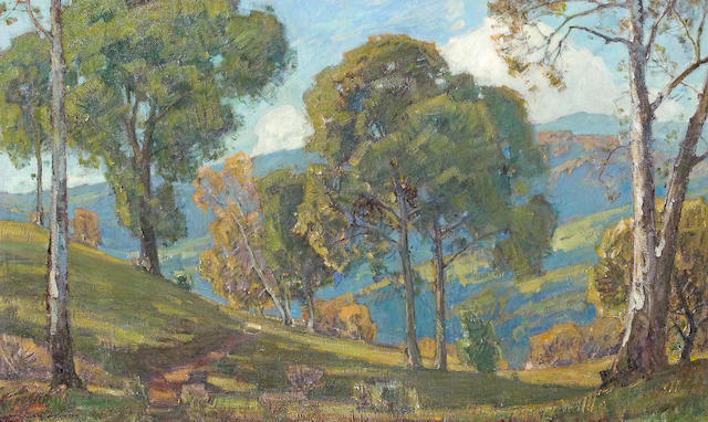 William Wendt (American, 1865-1946) View to the Valley 36 x 60in