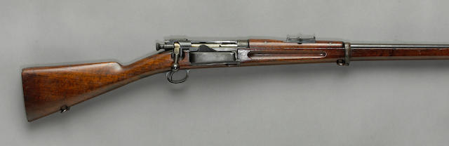 A scarce U.S. Model 1892 Krag-Jorgensen Type II bolt action rifle