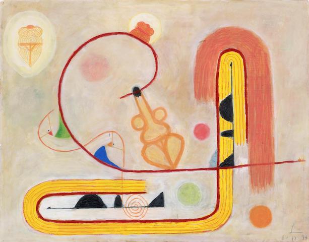 Frank Lobdell (American, born 1921) 8.17.94, 1994 17 1/2 x 22in (44.4 x 55.9cm)