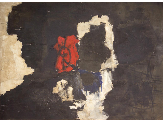 Peter Voulkos (American, 1924-2002) Passing Red, 1959 79 x 109in (200 x 277cm)