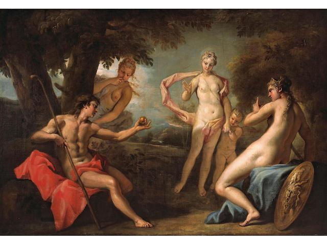 Sebastiano Ricci (Italian, 1659-1734) The judgment of Paris 41 x 59 3/4in (104.2 x 151.4cm)
