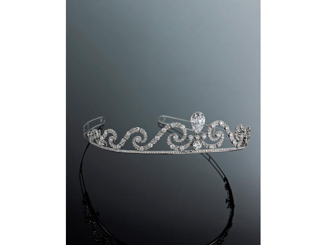 A exceptional belle époque diamond tiara,