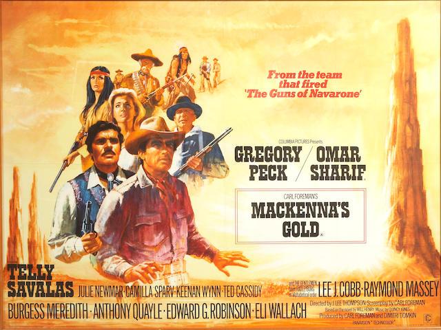 A film poster: Mackenna's Gold