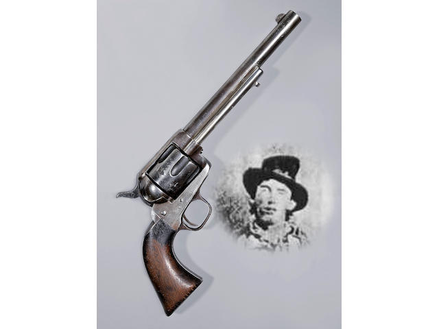 An historic Colt single action army revolver attributed to famed outlaw William H. 'Billy the Kid' Bonney