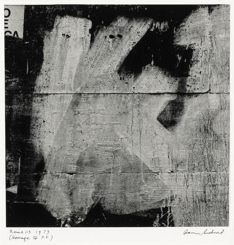 Aaron Siskind (American, 1903-1991); Jalapa 6 (Homage to F.K.); Rome 113 (Homage to F.K.) ; (2)