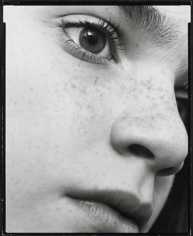 Nicholas Nixon (American, born 1947); Nicholas Nixon, 3 photographs of face/head/eye