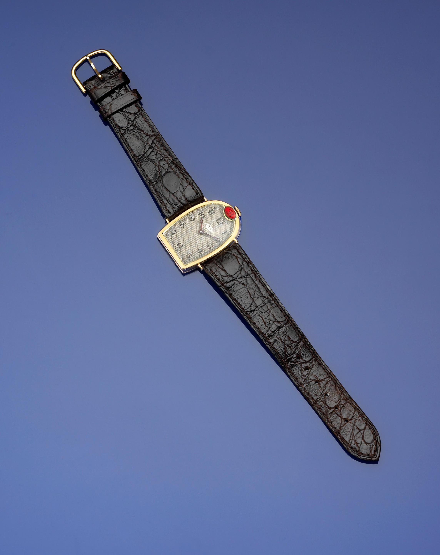 A very fine and rare 18k gold gentleman's 'Bugatti' wristwatch by Mido, 1929,