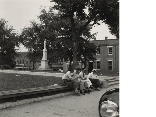 Dorothea Lange (American, 1895-1965); Men Idling around Court House Square, Roxboro, North Carolina;