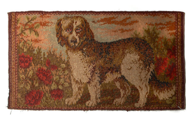 A Belgian machine made tapestry with hunt scene