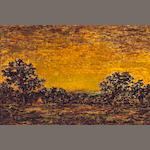 Ralph Albert Blakelock, Indian Encampment, o/c * New York American Sale *