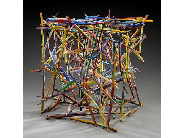 Charles A. Arnoldi (American, born 1946) Untitled, 1981 28 x 28 x 28in (46 x 46 x 46cm)
