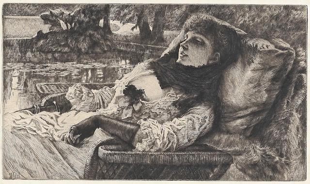 James Jacques Joseph Tissot (French, 1836-1902); Soirée d'été;