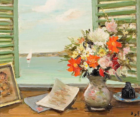 (n/a) Marcel Dyf (French, 1899-1985) Les volets entr'ouverts (No. 1232), c. 1971 18 x 21 3/4in (45.8 x 55.2cm)