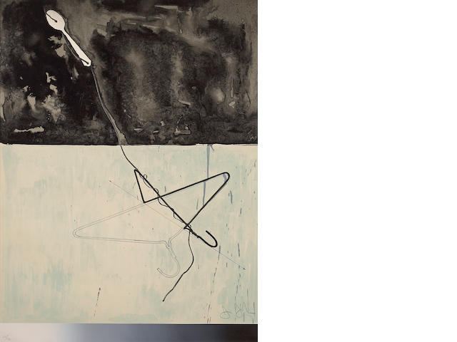 Jasper Johns (American, born 1930); Coat Hanger and Spoon, from Fragment - According to What;