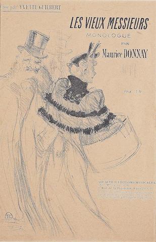 Henri de Toulouse-Lautrec (French, 1864-1901); Les Vieux Messieurs;