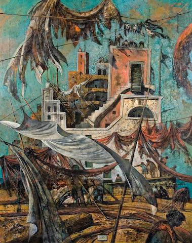Eugene Berman (American, 1899-1972) South Wind, 1967 39 3/8 x 31 1/2in (100 x 80cm)