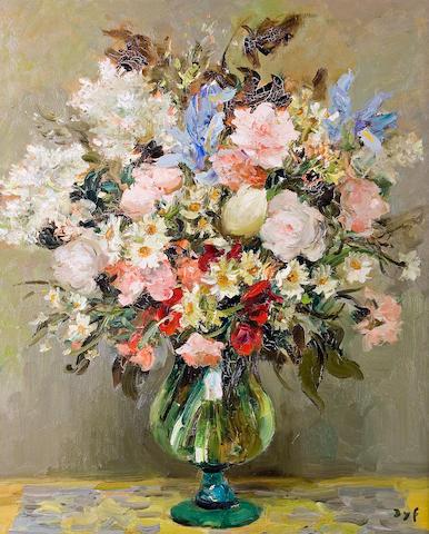 Marcel Dyf, Large Floral Still life