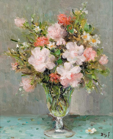 (n/a) Marcel Dyf (French, 1899-1985) Roses dans un verre (no. 1070), c. 1983 18 1/8 x 15in (46 x 38cm)