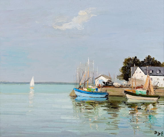 Marcel Dyf (French, 1899-1985) Loctudy, Finistère, Bretagne (no. 3089), c. 1970 18 1/8 x 21 3/4in (46 x 55cm)
