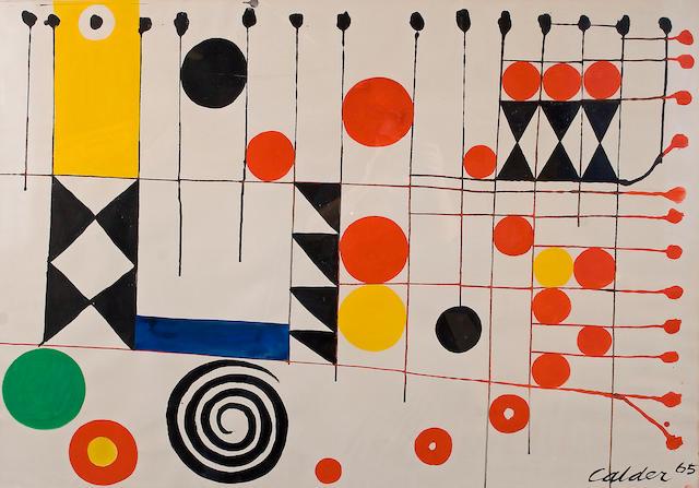 (n/a) Alexander Calder (American, 1898-1976) Checkerboard, 1965 29 1/4 x 42 1/4in
