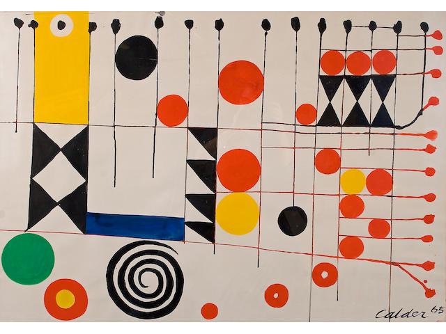 Alexander Calder (American, 1898-1976) Checkerboard, 1965 29 1/4 x 42 1/4in