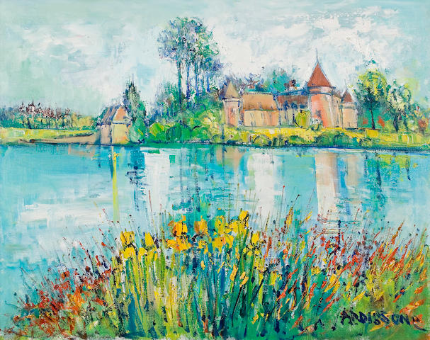 (n/a) Yolande Ardissone (French, born 1927) Domaine des Etangs 28 3/4 x 36 1/4in (73 x 92cm)