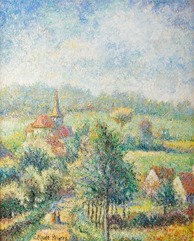 (n/a) Hughes Claude Pissarro (French, born 1935) Monthou en Normandie; Port Saint Pierre (2) each 16 1/8 x 13in (41 x 33cm)