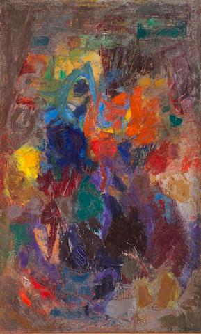 (n/a) Enzo Brunori (Italian, 1924-1993) Quando tramonta il sole, 1960 60 x 36in (152.5 x 92cm)