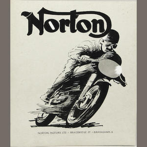 A Norton magazine advertising artwork, late 1930s,