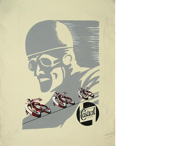 A Castrol Motor Oil advertising artwork,