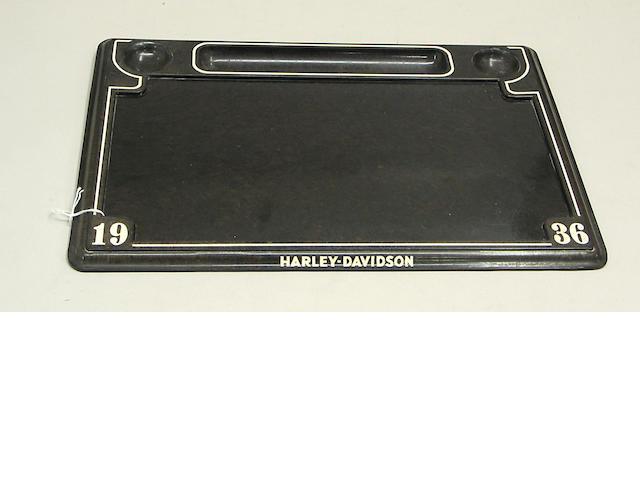 A Harley Davidson decorative desk set,