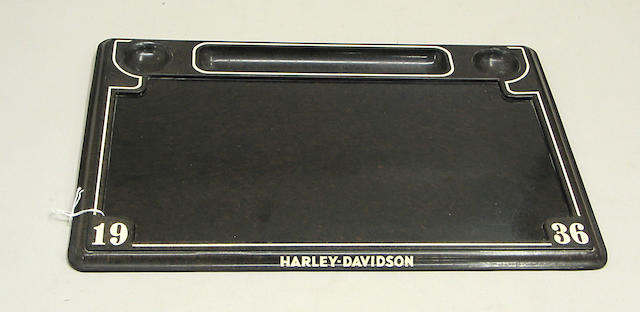 A Harley Davidson decorative desk set,