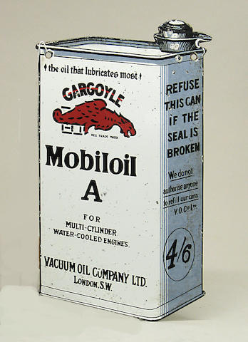 An enamel Mobil Oil sign,