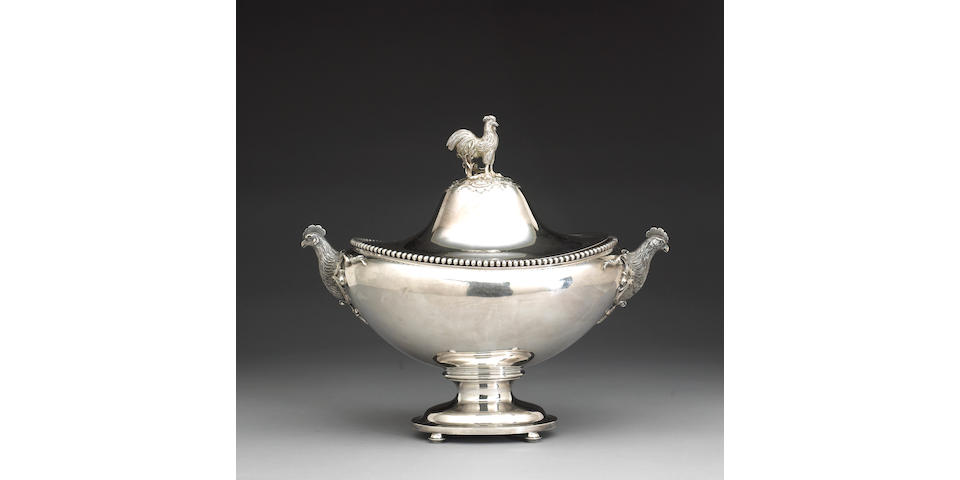 Silver Soup Tureen with Cover by W. K. Vanderslice, San Francisco