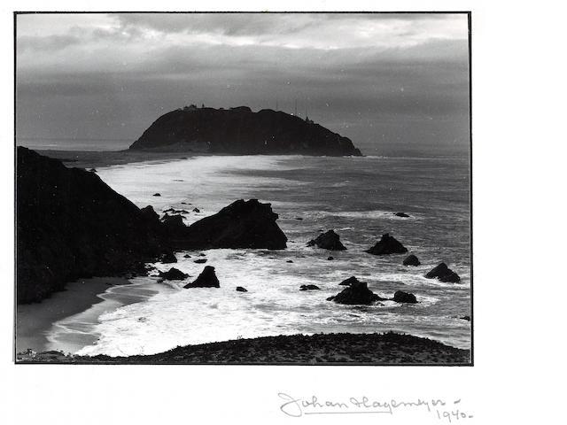 Johan Hagemeyer (Dutch/American, 1884-1962); Sunset; Carmel Coast; (2)