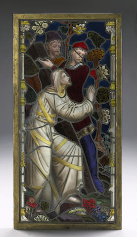 A stain glass panel