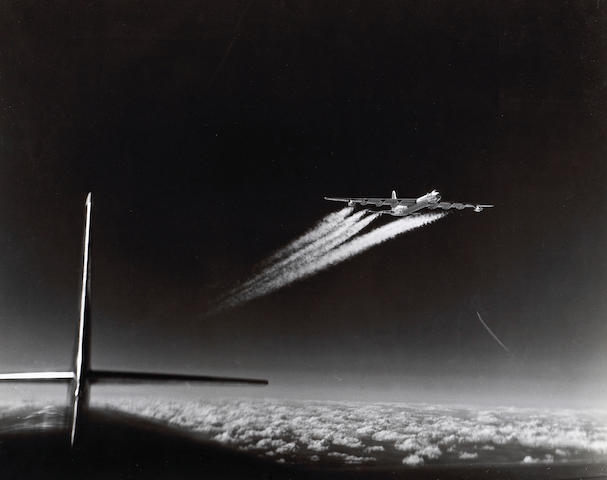 Margaret Bourke-White (American, 1904-1971); B-36 at High Altitude;