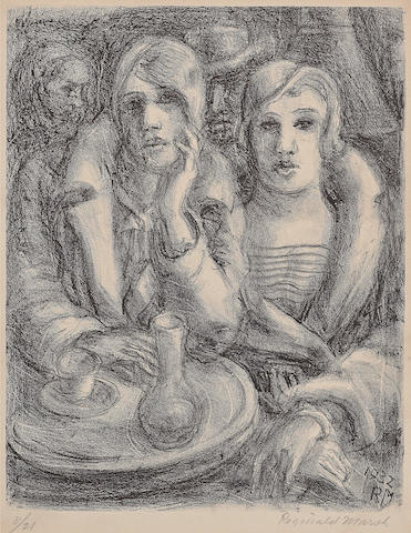Reginald Marsh (American, 1898-1954); Café Dôme;