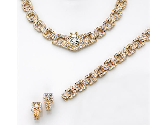 A suite of diamond jewelry, Van Cleef & Arpels