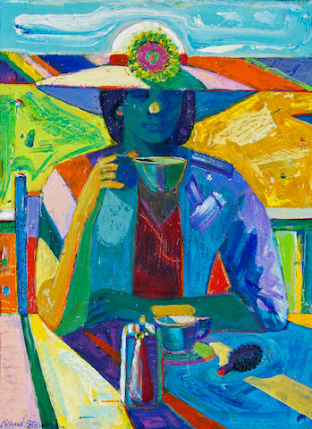 Roland Petersen (American, born 1926) Woman with Hat 24 x 18in (61 x 46cm)