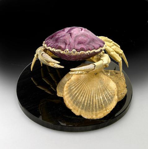 "Fantastic Ruby and 18K Gold Box—""The Crab"""