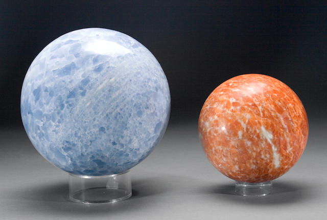 Two Calcite Spheres