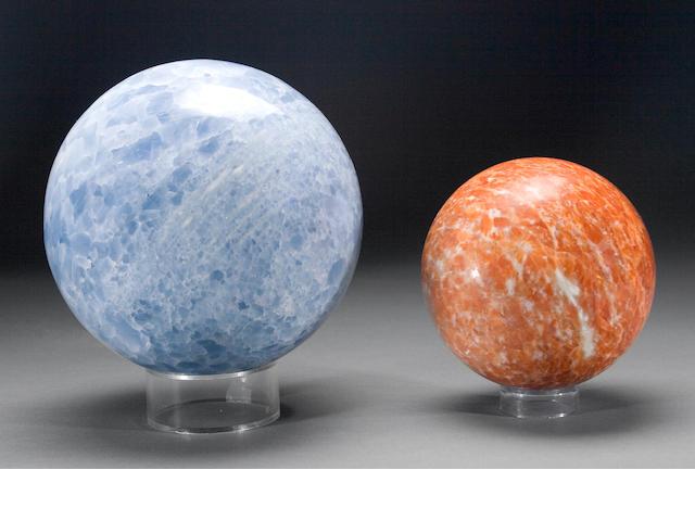 Two Calcite Spheres