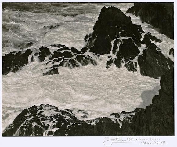 Johan Hagemeyer (Dutch/American, 1884-1962); Highland Coast #2, Carmel;