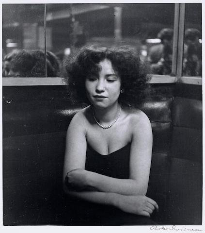 Robert Doisneau (French, 1912-1994); Mademoiselle Anita à la Boule Rouge, Rue de Lappe, Paris;
