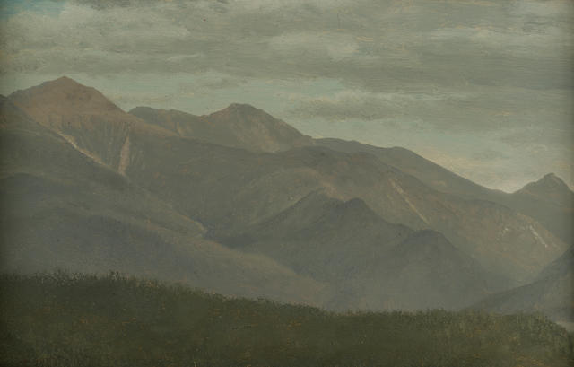 Albert  Bierstadt (German, 1830-1902) New Hampshire Mountains 7 1/4 x 11 1/4in
