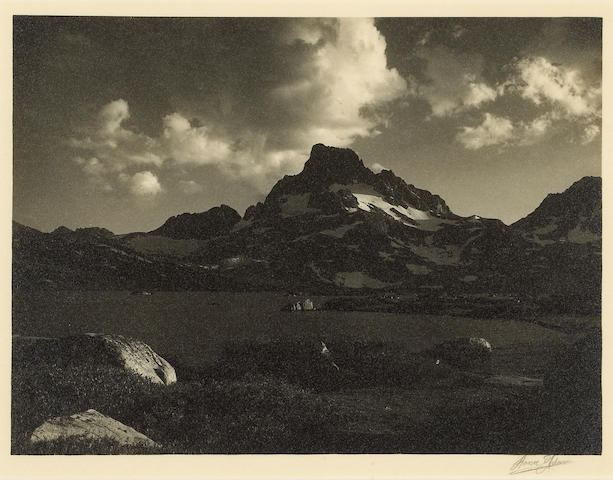 Ansel Adams (American, 1902-1984); Banner Peak and Thousand Island Lake, from Parmelian Prints of the High Sierras;