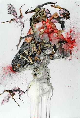 Wangechi Mutu (Kenyan, born 1972) Howl, 2006 sheet 35 x 24in (88.9 x 61cm)