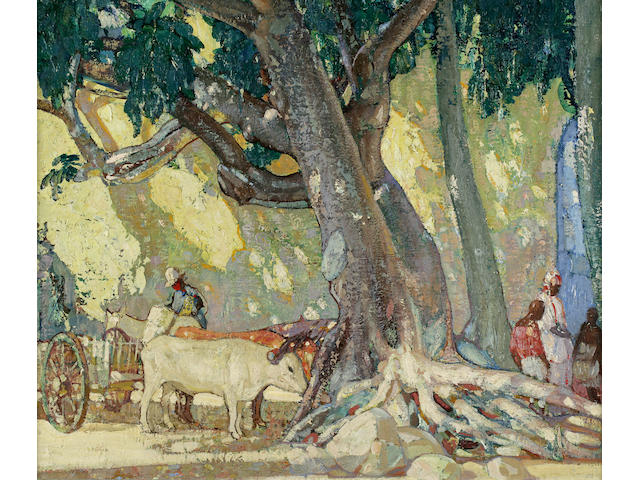 Richard Edward Miller (1875-1943) Cotton Silk Tree 30 x 35in